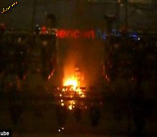 آتش سوزی در کنسرت ریحانا